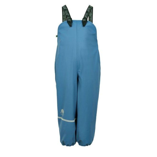Fleece lined rain pants with suspenders   sky blue   80-140
