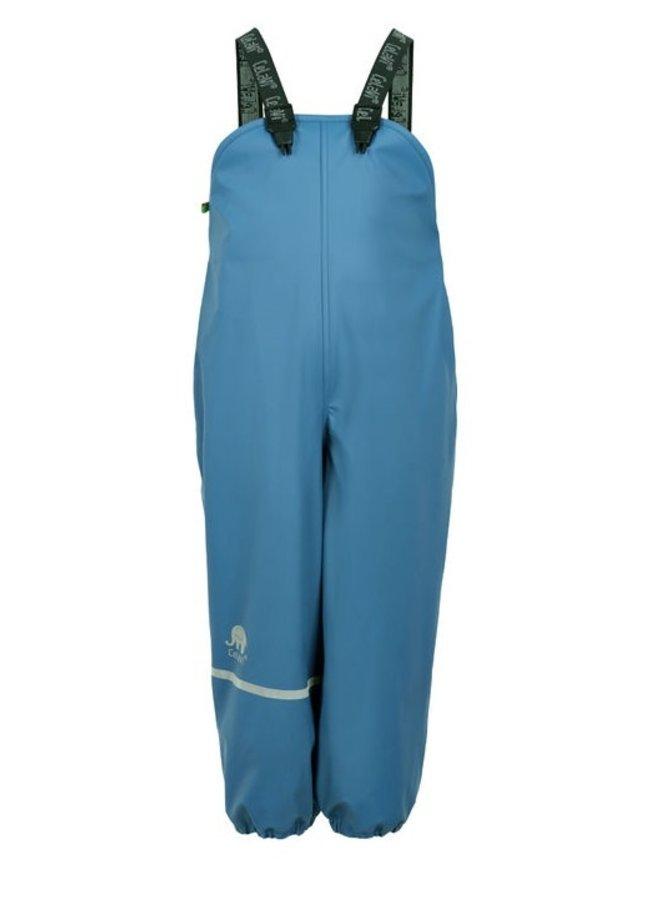 Fleece lined rain pants with suspenders | sky blue | 80-140