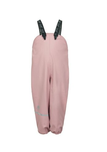 CeLaVi Fleece lined rain pants with suspenders pastel pink | 80-140