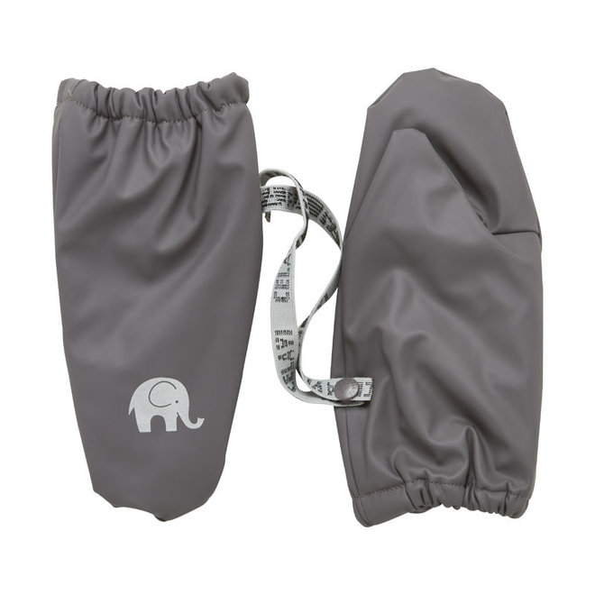 Warm mittens fleece lined and waterproof   0-6 years   gray