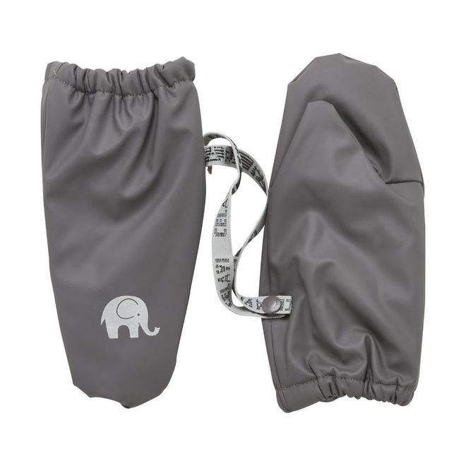 Fleece lined PU mittens   0-6 years   gray