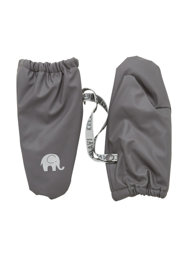 Fleece lined PU mittens 0-4 years | gray