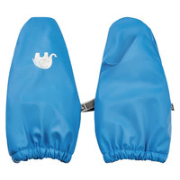 Warm mittens lined with fleece and waterproof | 0-4 years | sky blue