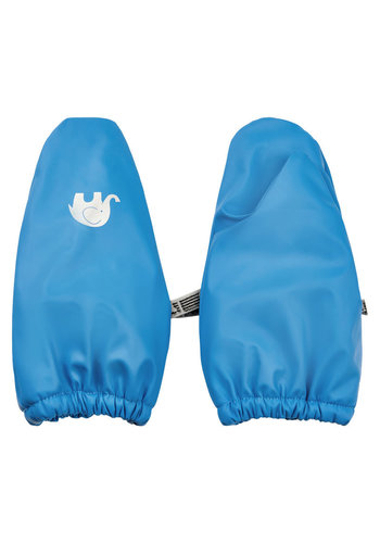 CeLaVi PU mittens lined with fleece 0-4 years | Sky blue