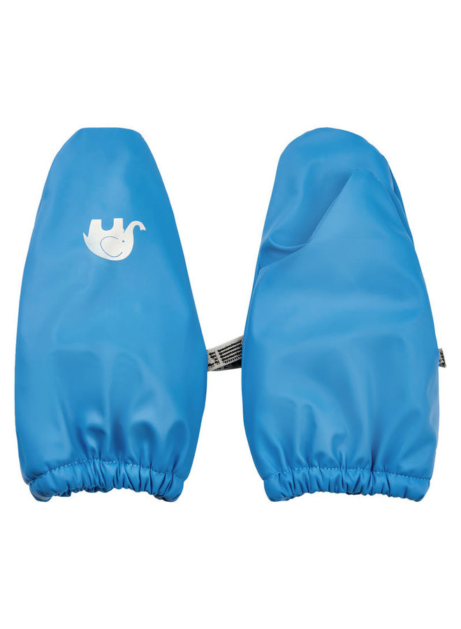 PU mittens lined with fleece 0-4 years | Sky blue