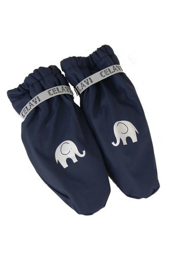 CeLaVi Fleece lined PU mittens 0-4 years | Navy