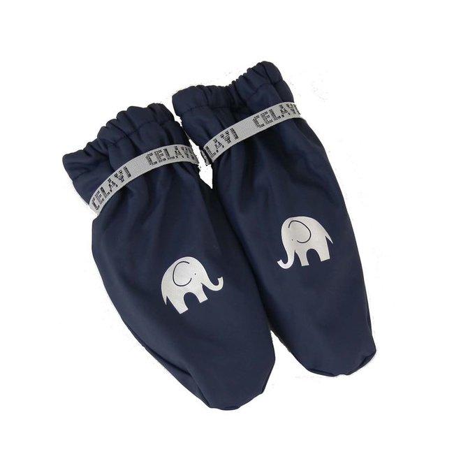 Fleece lined PU mittens | 0-6 years | Navy