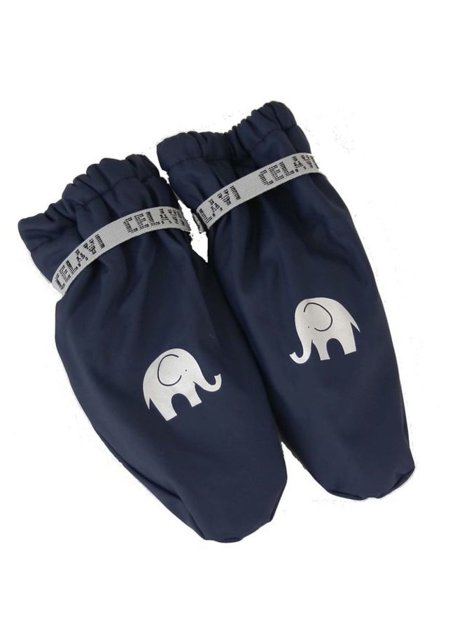 Fleece lined PU mittens 0-4 years | Navy