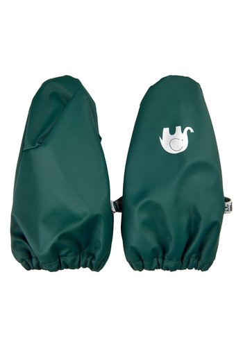 CeLaVi Fleece lined PU mittens 0-4 years | Dark green