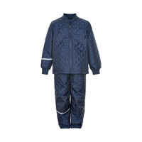thumb-Thermo set of trousers and jacket, quilted dark blue-1