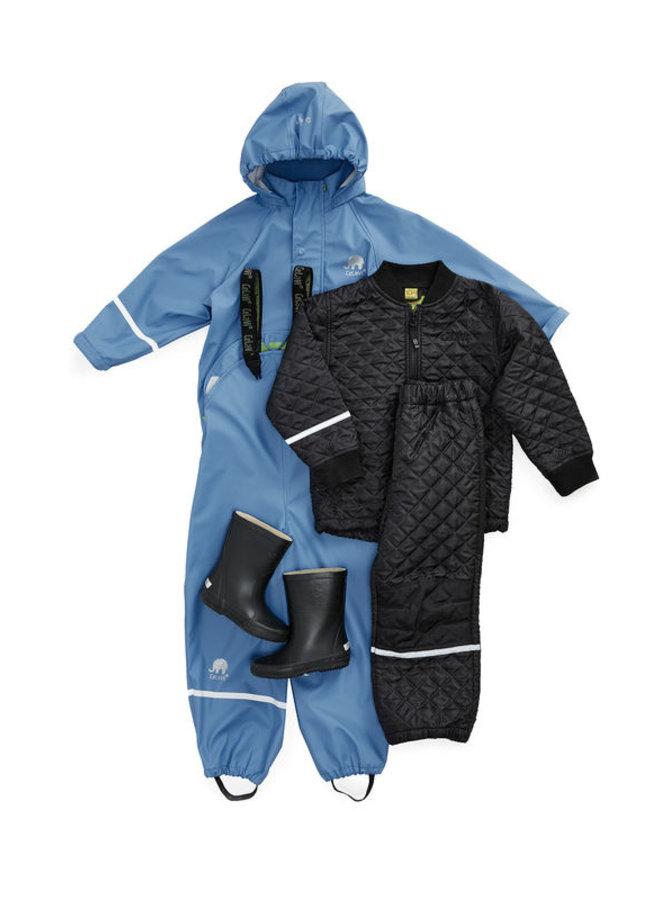 Thermo set broek en jack, gewatteerd donkerblauw
