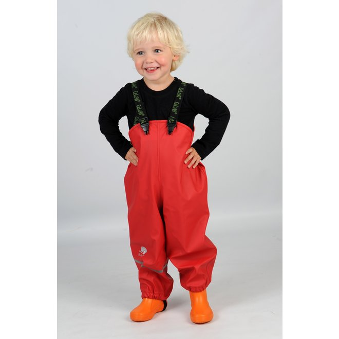 Red rain pants with suspenders | 70-100