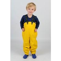 thumb-Yellow children's rain pants with suspenders 70-100-4