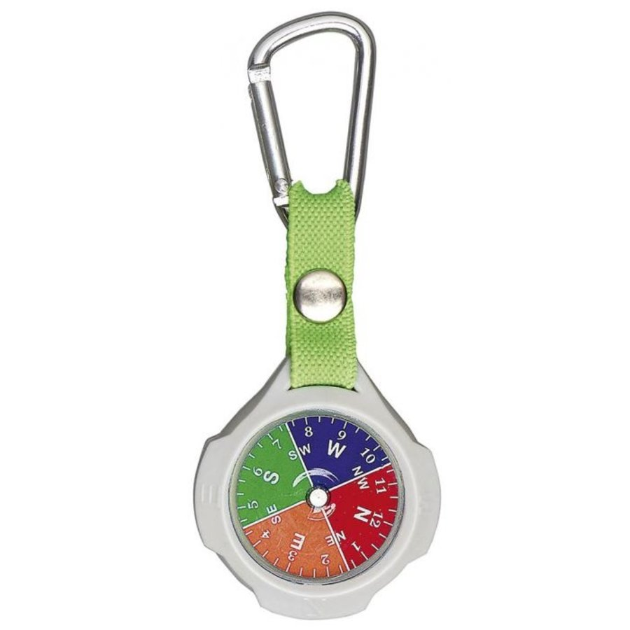 Keychain with compass and carabiner-2