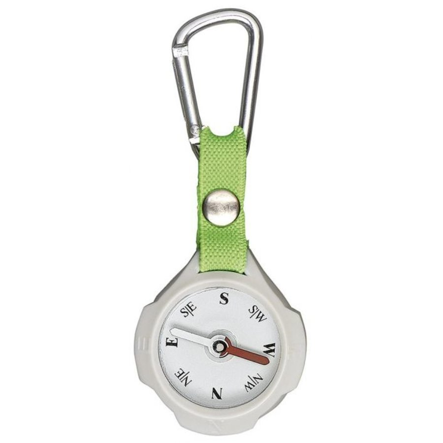 Keychain with compass and carabiner-4