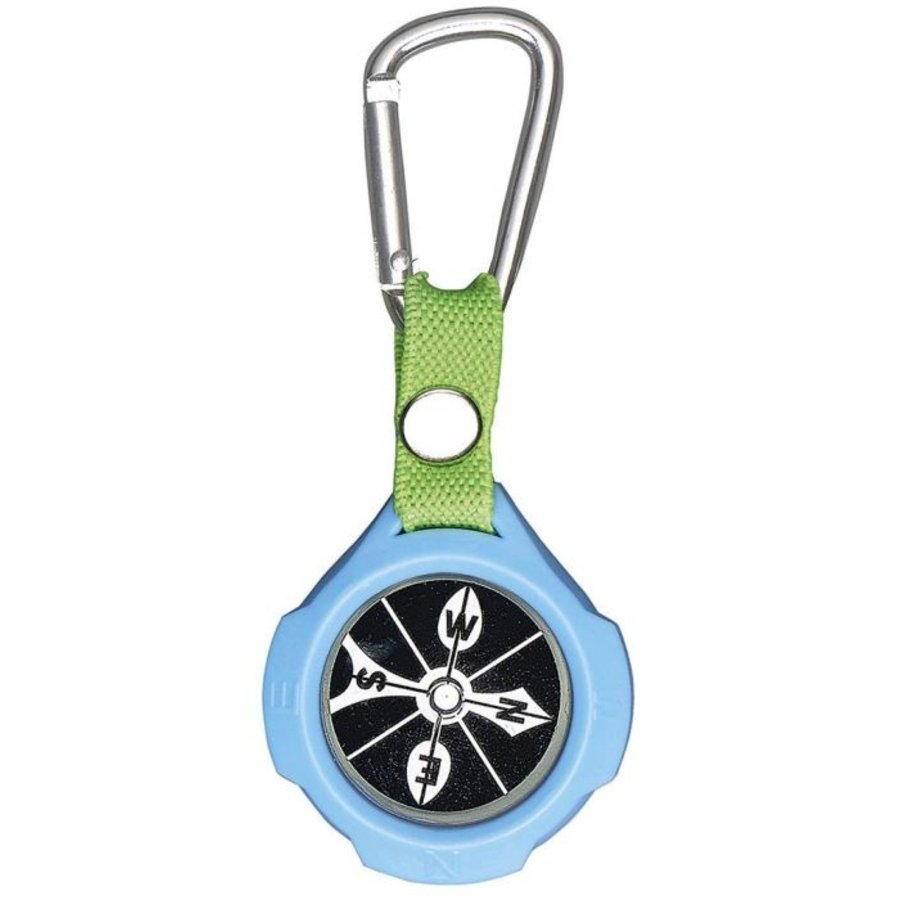 Keychain with compass and carabiner-5