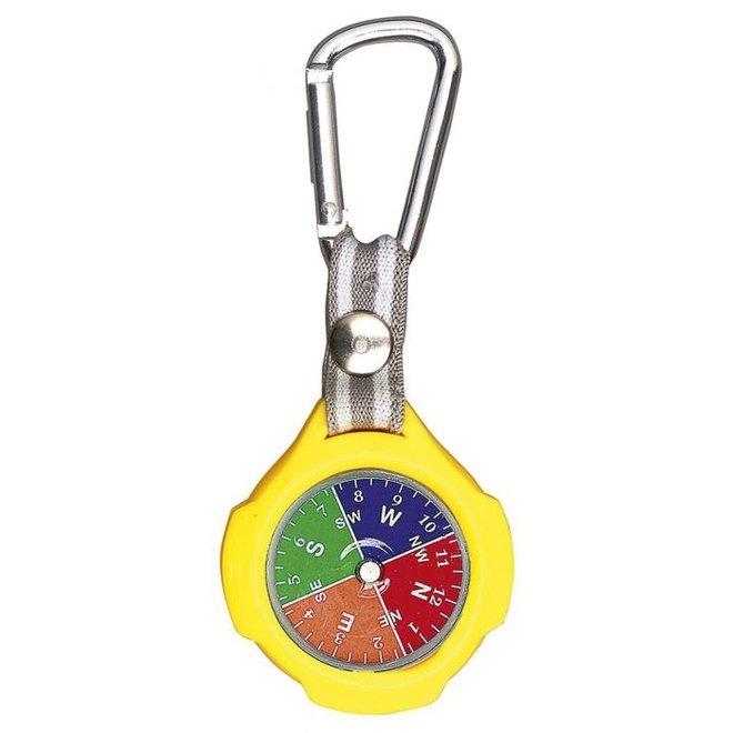 Sleutelhanger met kompas en karabijnhaak