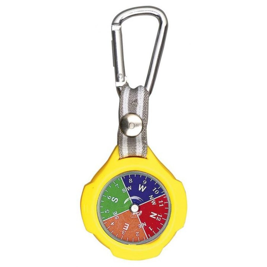 Keychain with compass and carabiner-9