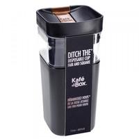 thumb-Kafé In The Box| zwarte koffiebeker voor onderweg 355ml-2