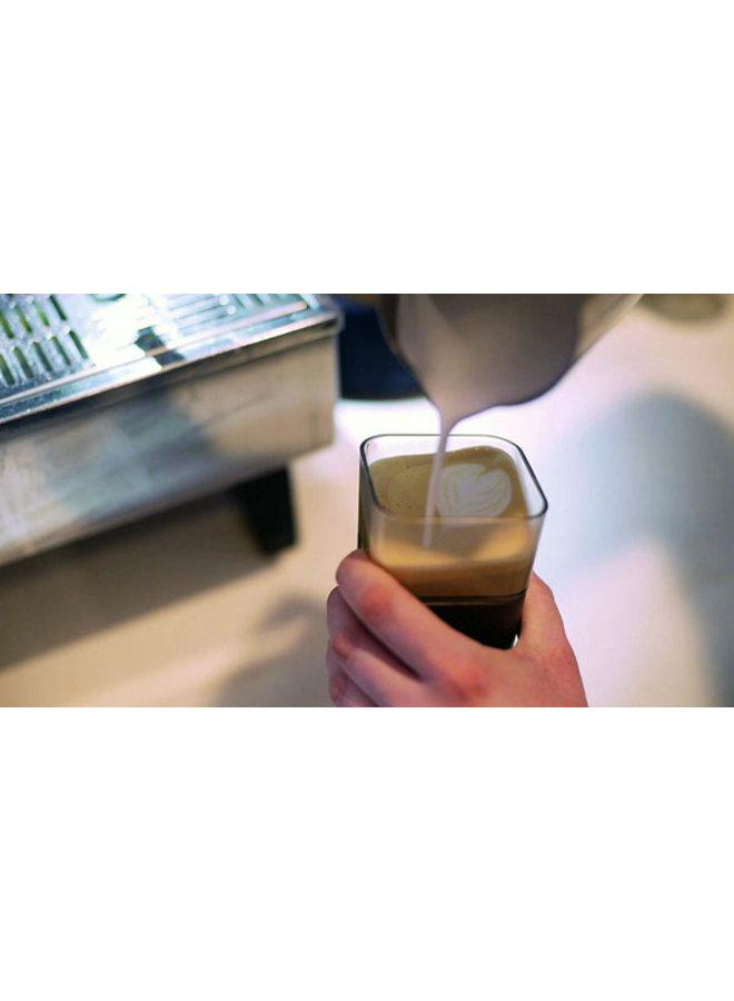Kafé In The Box| zilvergrijze koffiebeker voor onderweg 355ml
