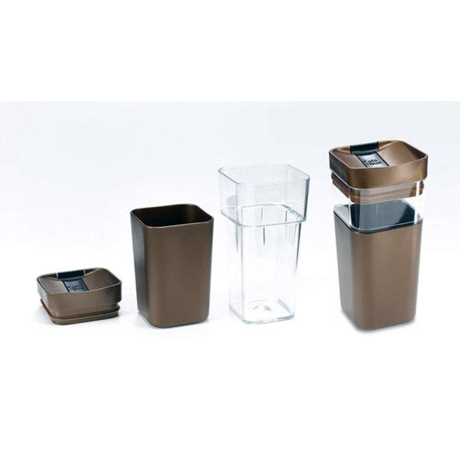 Kafé In The Box  zilvergrijze koffiebeker voor onderweg 355ml