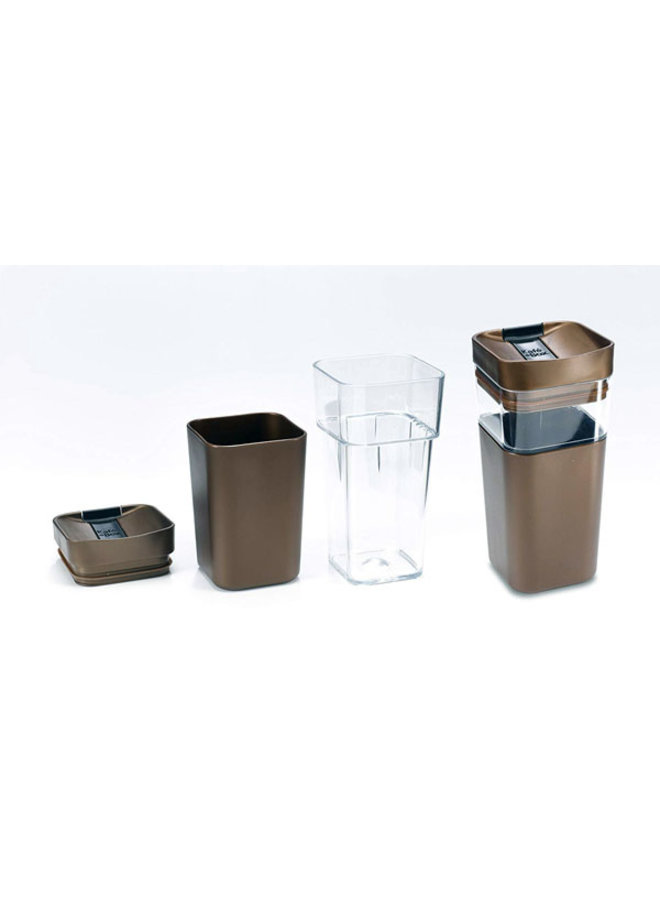Kafé In The Box | silver-gray coffee cup for on the road 355ml