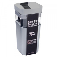thumb-Kafé In The Box | silver-gray coffee cup for on the road 355ml-2