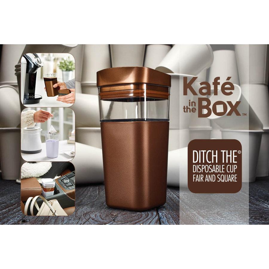 Kafé In The Box| zilvergrijze koffiebeker voor onderweg 473 ml-6