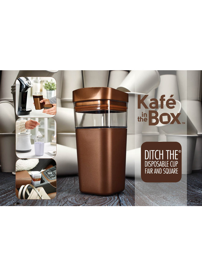 Kafé In The Box | black coffee cup for on the road 473 ml