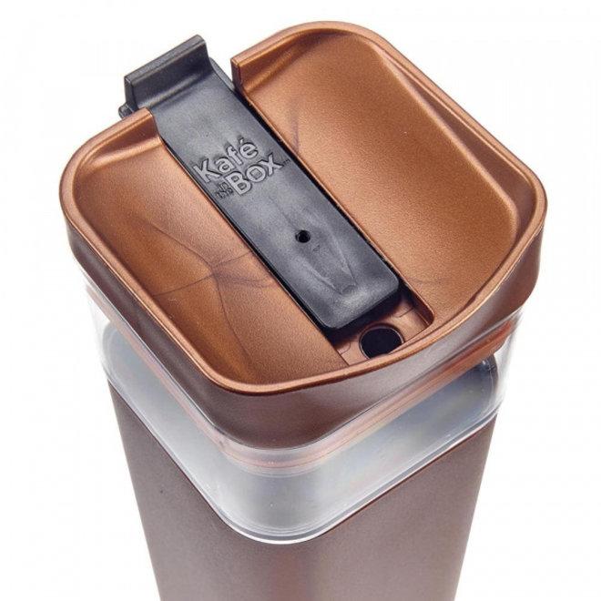 Kafé In The Box| koffiebeker voor onderweg 473 ml | Bruin brons