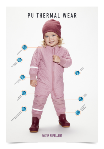CeLaVi Waterafstotende thermo overall in roze