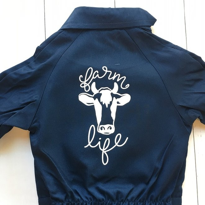 Children's overall | Farm Life bull and text