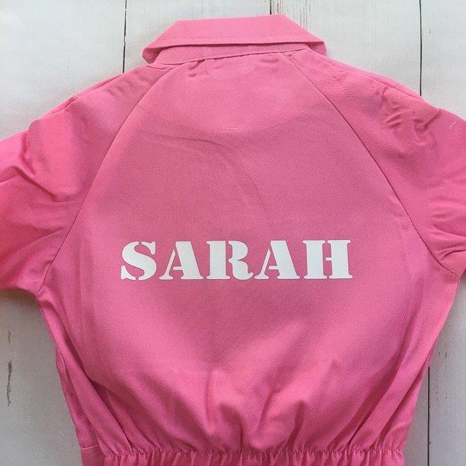 Printed children's overalls | pink
