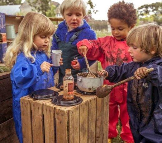 Buitenkleding, kleding en textiel voor de kinderopvangorganisaties en gastouders