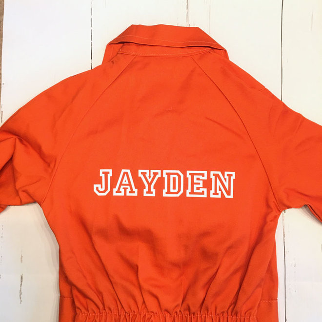 Printed children's overalls   Orange