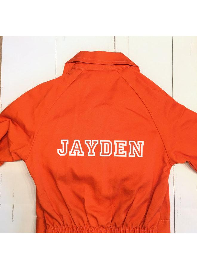Printed children's overalls | Orange