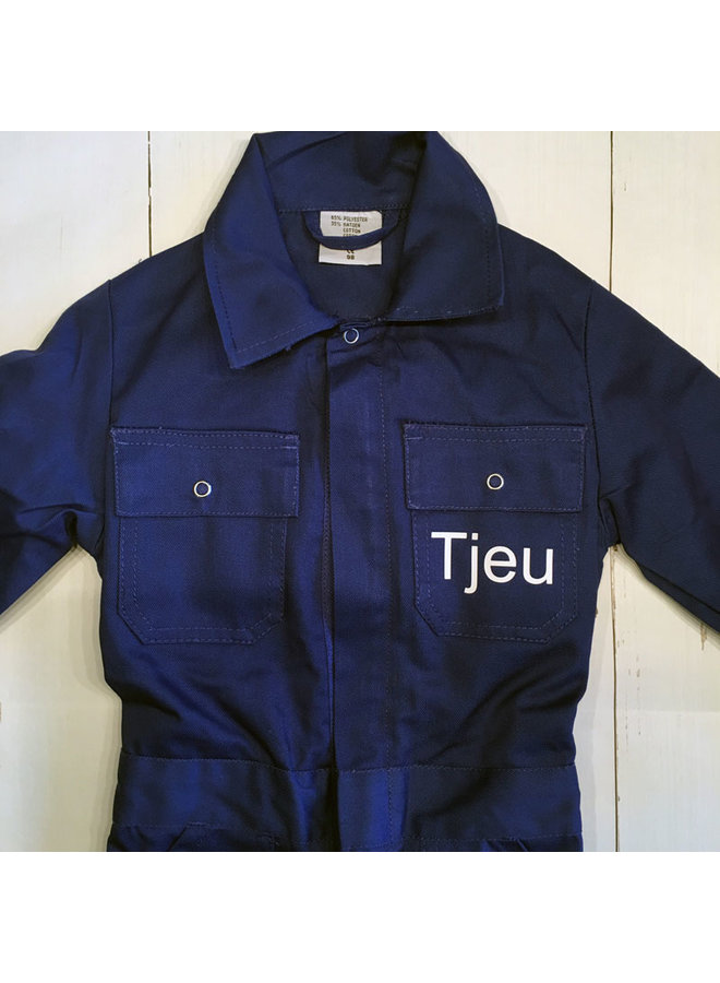 Printed children's overalls | navy blue