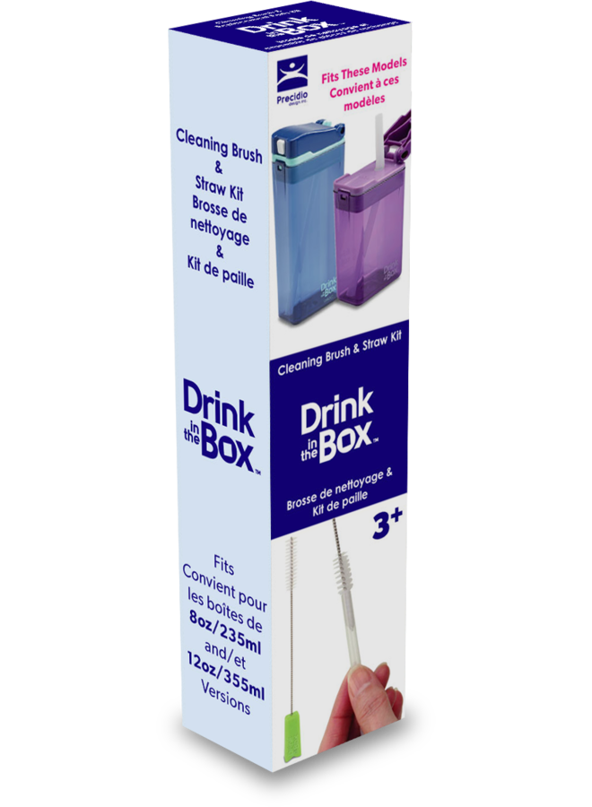 Spare straws and cleaning set Drink in the Box (next generation)