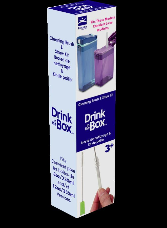 Reserve rietjes en schoonmaakset Drink in the Box (nieuw)