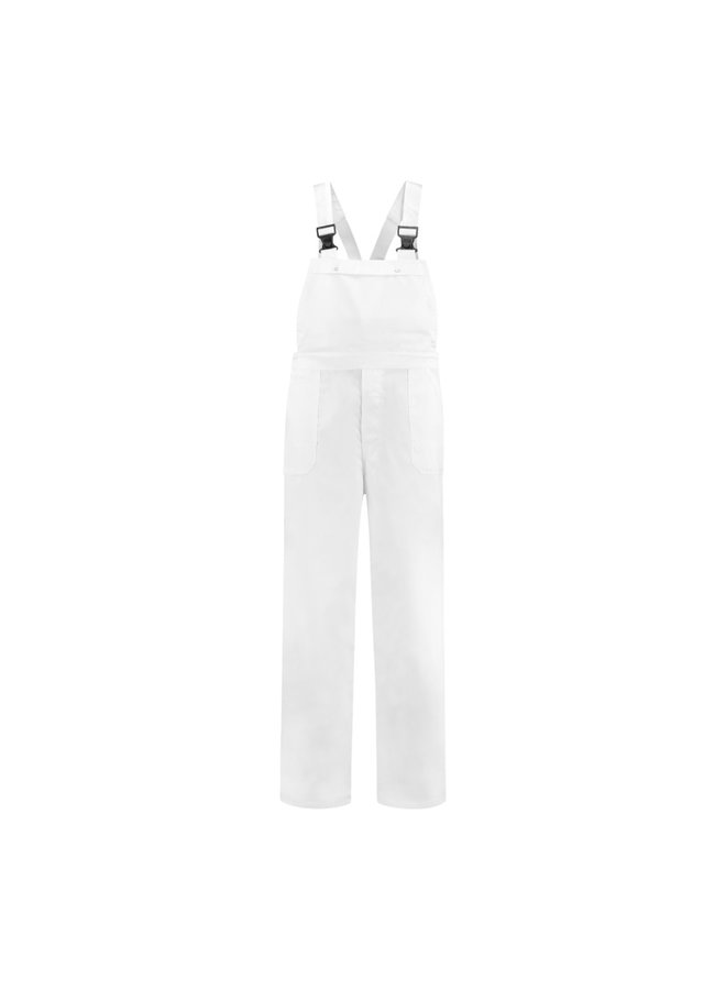White dungarees for men and women garden and carnival