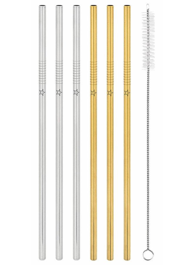 Stainless steel straws set of 8 pieces