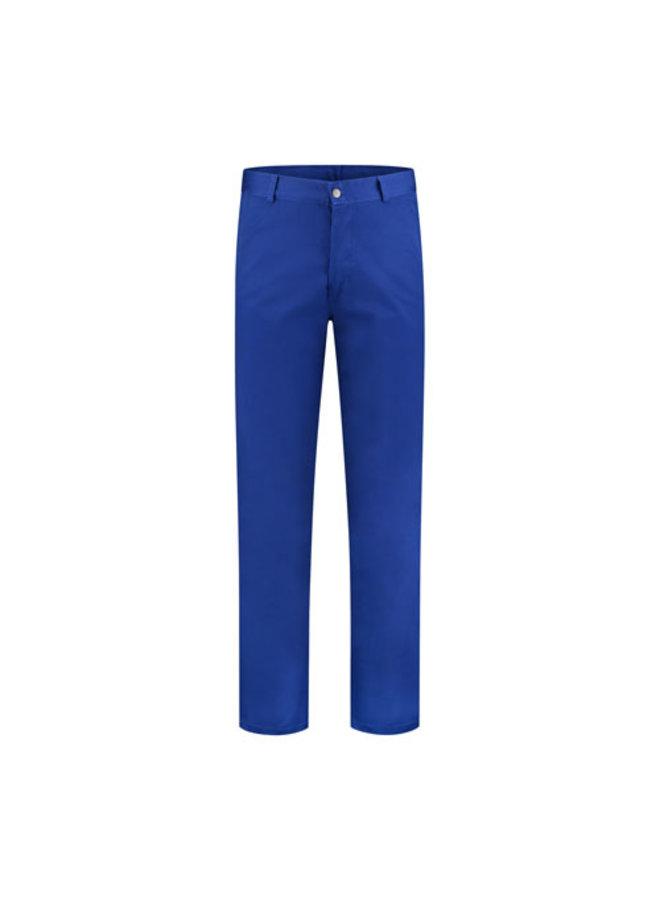 Basic blauwe werkbroek , worker 260gr/m2 poyester katoen in korenblauw