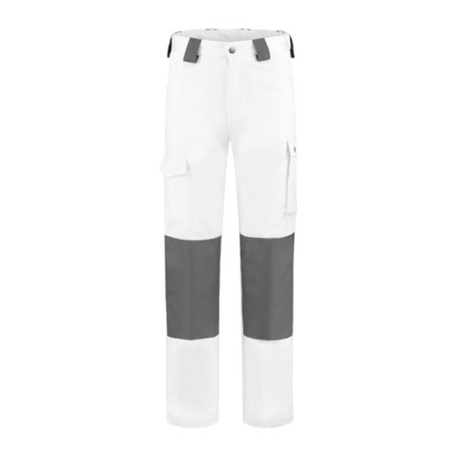 Worker, white work trousers, cotton-polyester