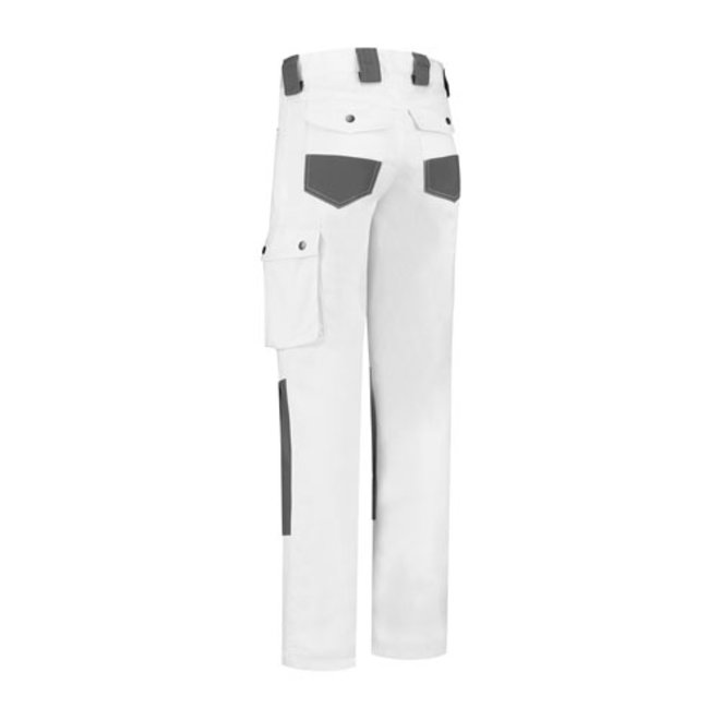 Work trousers, worker | with knee pads | white