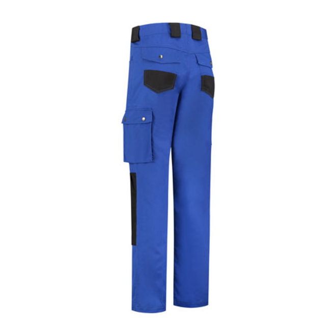 Worker, work trousers cotton-polyester-royal blue / black