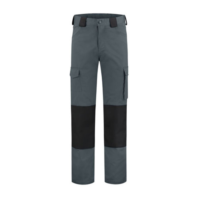 Work trousers with knee pad pockets | Gray-black