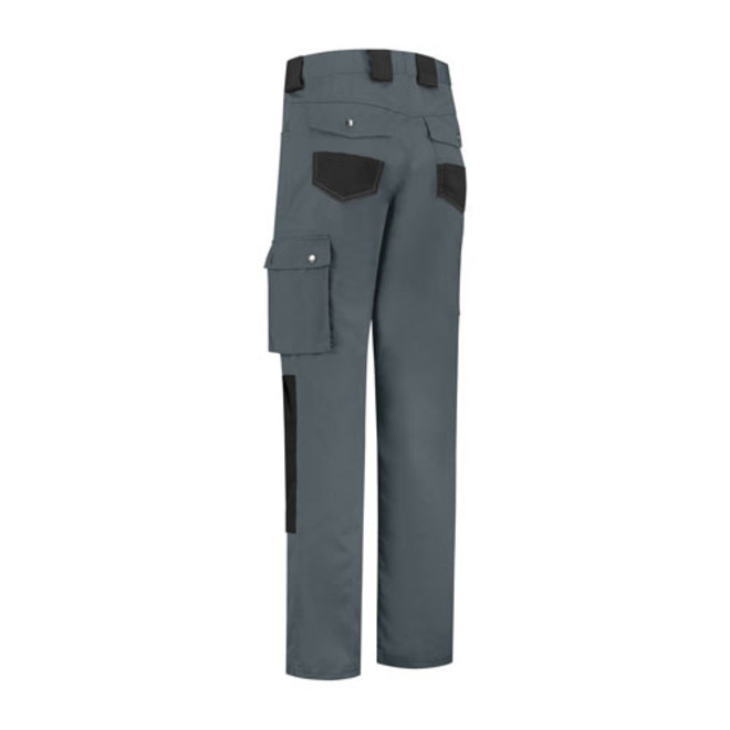 Worker, work trousers cotton-polyester-gray / black