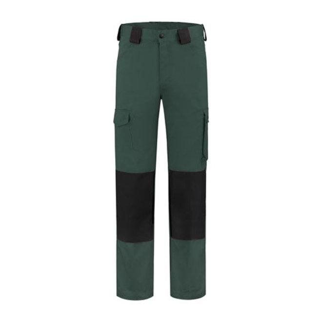 Worker, work pants cotton- green//black