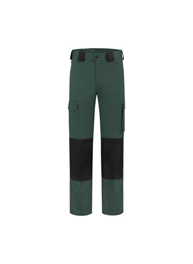 Worker, werkbroek katoen-polyester - donkergroen-zwart