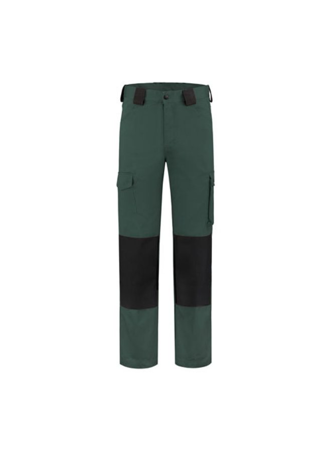 Worker, werkbroek katoen-polyester 280gr/m2 - donkergroen- zwart